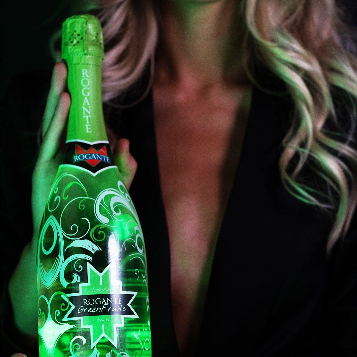 ILLUMINATED BOTTLE  - GreenFruits Sparkling Wine